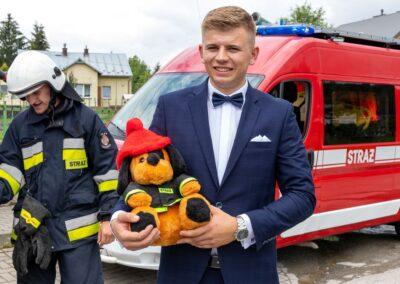 strażacka brama weselna